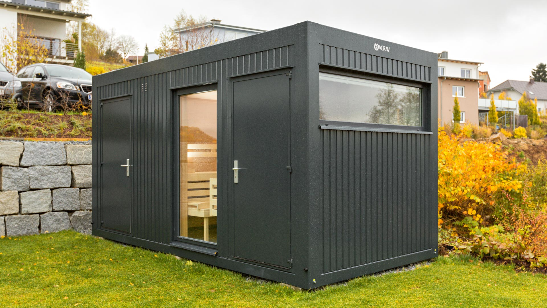 wohncontainer agrav container modulsysteme gmbh. Black Bedroom Furniture Sets. Home Design Ideas